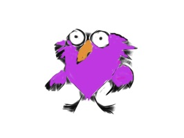 Funny purple owl stickers for iMessage
