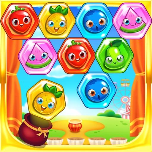 Candy Hexagon Bubble Pop - Kids Puzzle Games FREE