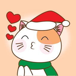 Merry Christmas Cat - Happy Kitty Stickers and Gif