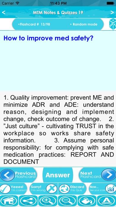 MTM Exam Review App - Study Notes, Quiz & concepts Screenshot on iOS