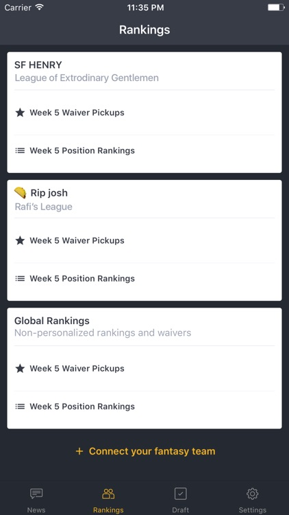 BallHawk: Fantasy Football Companion