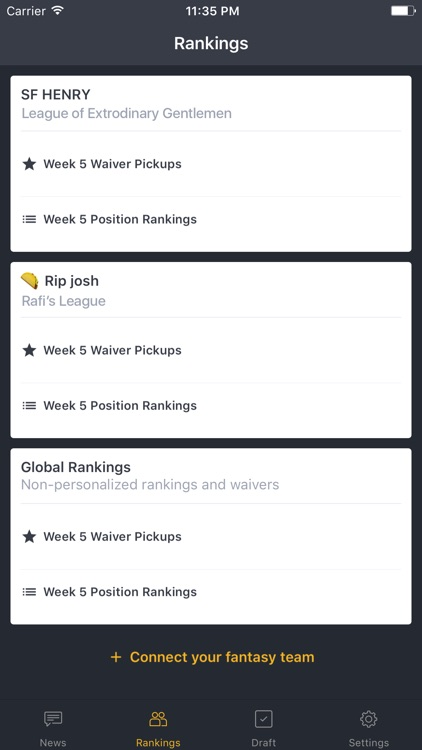 BallHawk: Fantasy Football Companion screenshot-2