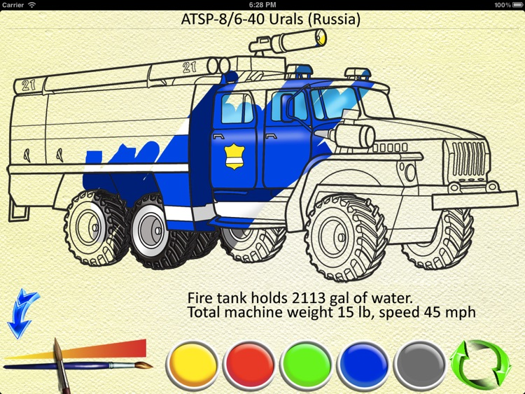 Fire Trucks - Coloring Book screenshot-3
