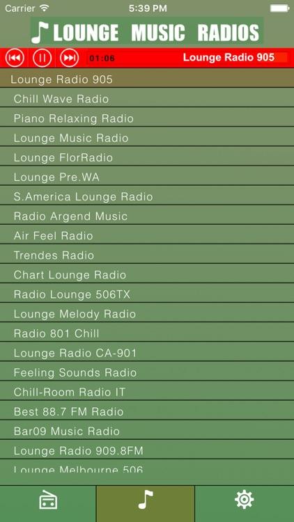 Lounge:  Music Radios