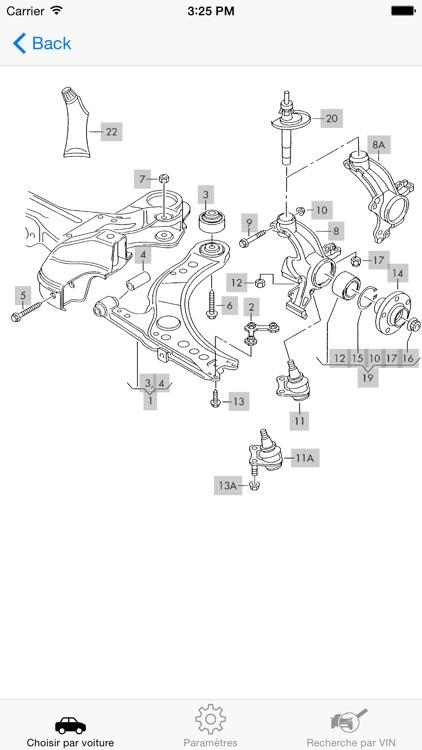 VW parts and diagrams screenshot-3