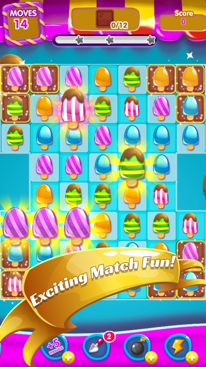Lollipop Maker Candy: Ice Cream Match3 Mania