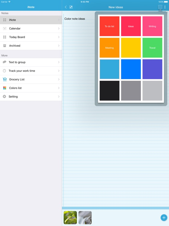 iNote HD - Sticky Note by Color screenshot-3