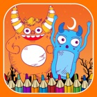 Monster happy halloween free crayon games for kids icon