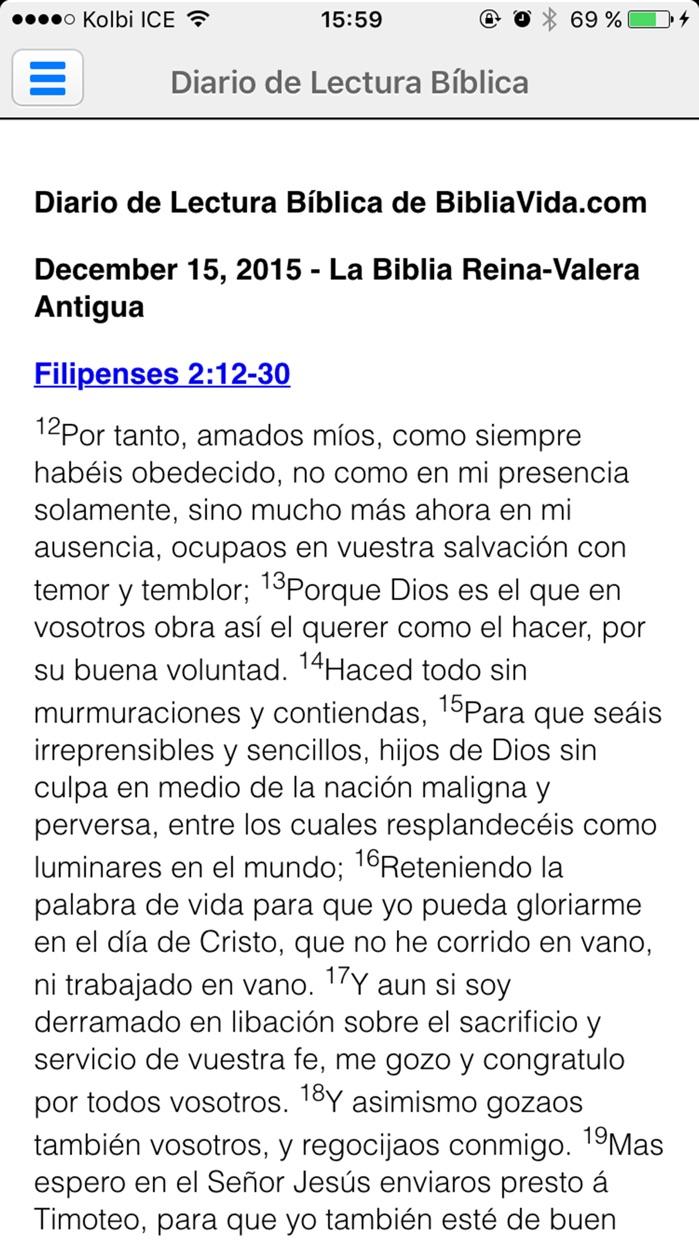 La Biblia Reina Valera (de estudio en Español) Screenshot