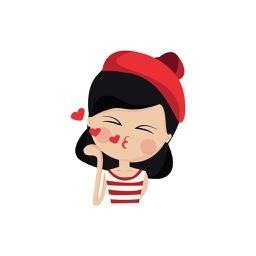 Emotion Girl Sticker for iMessage
