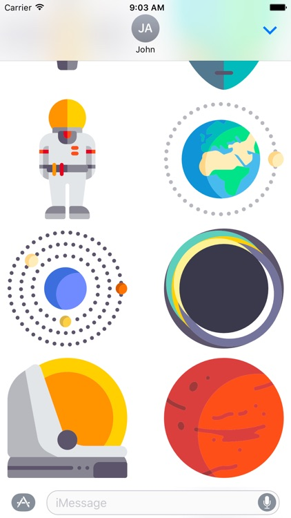 Space Stickers Limited Edition for Messages