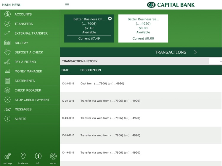 Capital Bank Corporation for iPad screenshot-1