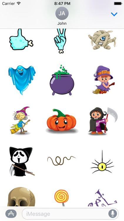 Halloween Kitty Sticker screenshot-3