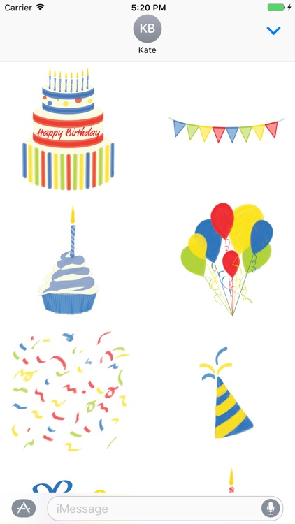 Happy Birthday sticker pic - stickers for iMessage