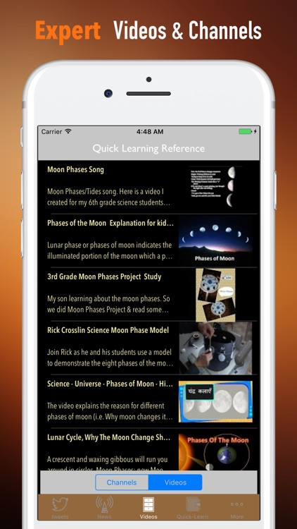 Moon Phases Study Guide-Tutorial and Hot News screenshot-3
