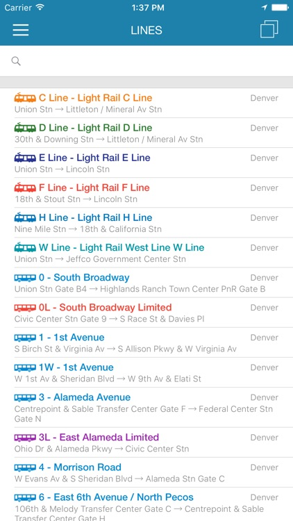 ezRide Denver RTD - Transit Directions for Bus and Light Rail including Offline Planner screenshot-4