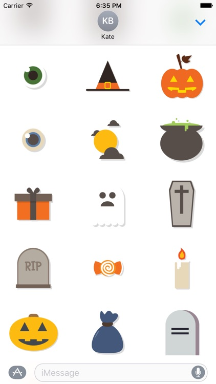 Halloween Sticker Pack and Emoji for iMessage Chat