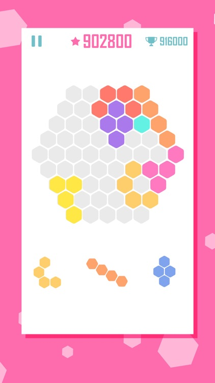 Hex Cells Classic Hexagon Matching Puzzle