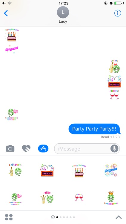 Party Sticker for iMessage