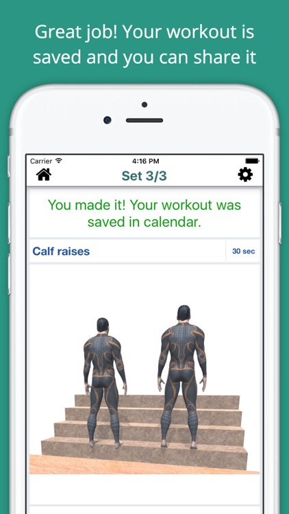 Stairs Workout Challenge Free - Build muscle, abs screenshot-3