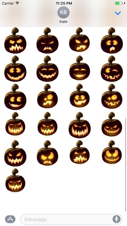 Pumpkin Halloween Emoji Sticker #5