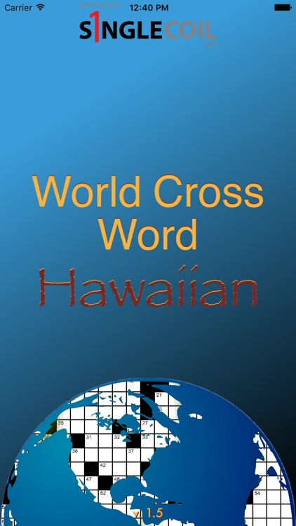 World Cross Word Hawaiian