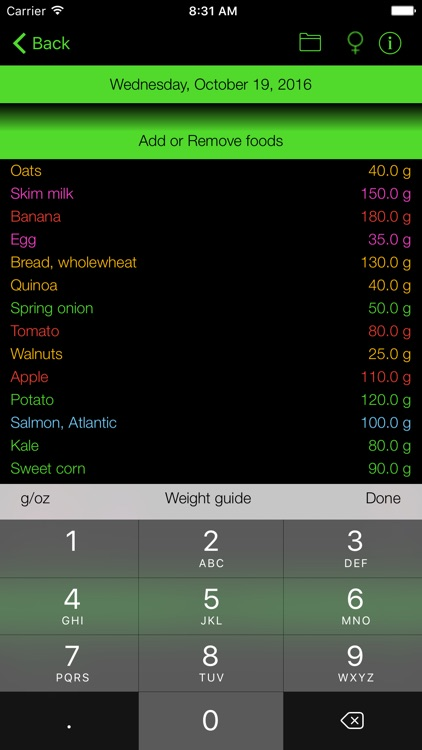 Fiber Counter and Tracker for Healthy Food Diets screenshot-1
