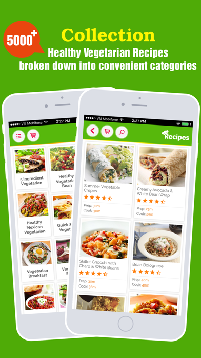 Healthy Vegetarian Pro~Easy & Delicious Meal Ideas screenshot one