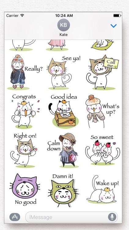 Kitty Cat Mayuneko Stickers Free screenshot-3