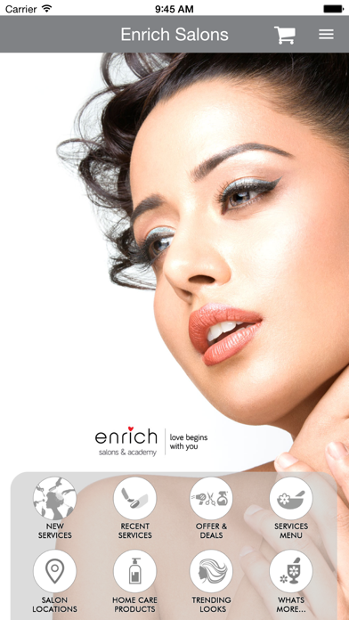 Enrich Salons screenshot three
