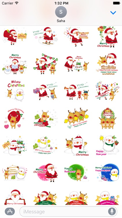 Santa Claus Stickers for iMessage