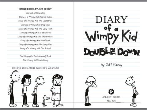 Diary Of A Wimpy Kid Double Down Title