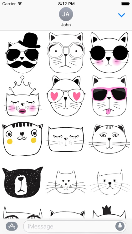 Cat Emotion Cute Sticker Pack 01