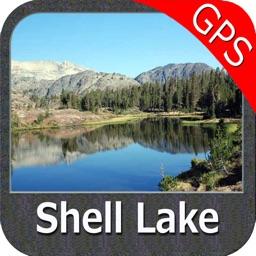 Lake Shell Wisconsin GPS fishing map offline