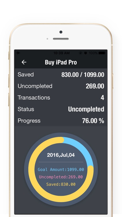 Daily Savings Goals - Savings Goals Plan,Money Box screenshot-3