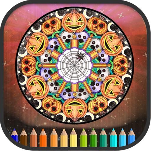 Halloween Mandala Coloring