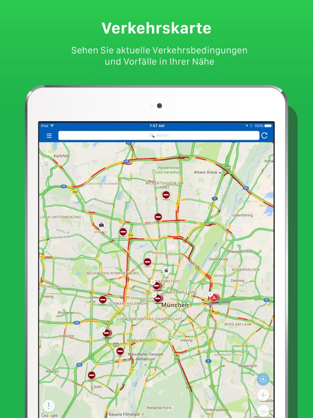 INRIX Traffic Screenshot
