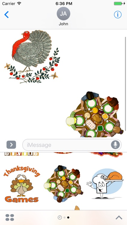 Give Thanks with iMessage