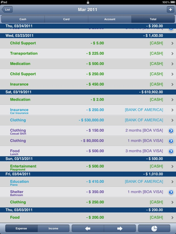 "Ace Money Pro ""for iPad"" screenshot-3"