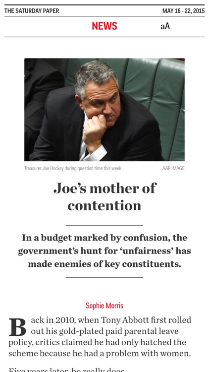 The Saturday Paper