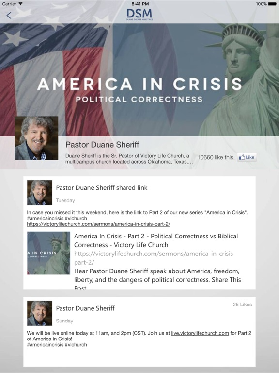 Screenshot #1 for Duane Sheriff Ministries
