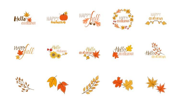 Happy Autumn Hand Drawn Stickers
