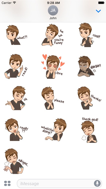 About Ben for sticker for iMessage by AMSTICKERS screenshot-3