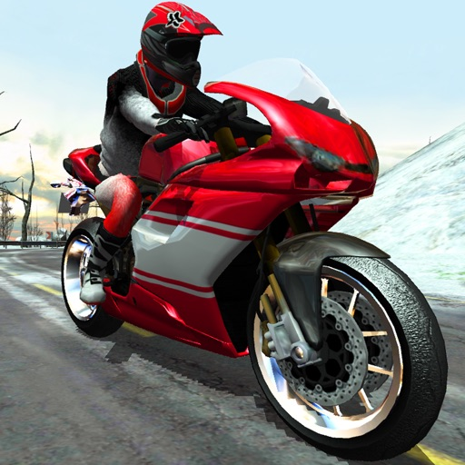 Bike Rider - Frozen Highway Rally Race Free