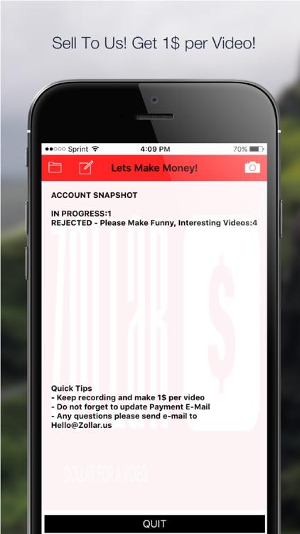 ZOLLAR - Share Video, Get Paid screenshot-3