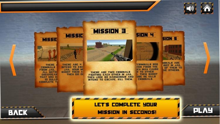Prison Break Sniper Shooting 3d Simulator screenshot-3