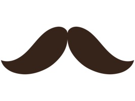 Lighten up your conversations with friends by adding a 'stache to it