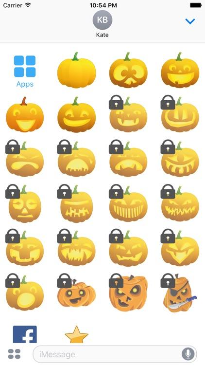 Pumpkin Emoji Face for iMessage Stickers