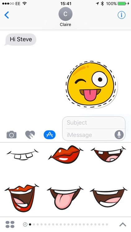 Smiler Stickers for iMessage