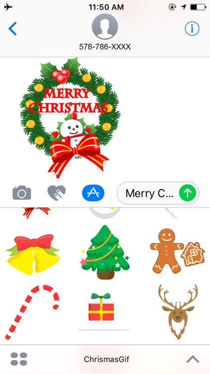 Christmas Santa Sticker - Holiday Gif for iMessage